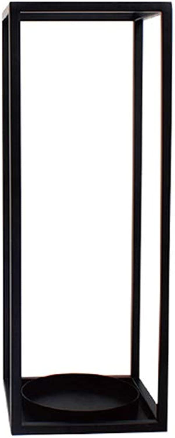 Umbrella Stand Rack,Free Standing Holder for Canes Walking Sticks, with Hooks, for Hotel Home Office Hallway Storage, Metal (color   Black, Size   20×54cm(L×W×H))