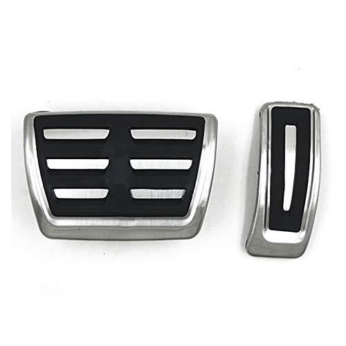Goblin ZSQ Pedal de Freno de Coches de Combustible de Acero Inoxidable y Acero Inoxidable para Audi A6 C8 2019 (Color Name : Black)