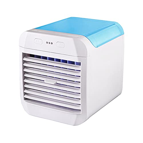 Personal Air Cooler, Portable Evaporative Conditioner Mini Simply Modern Quiet Air Conditioner Fan for Office, Home Use blue