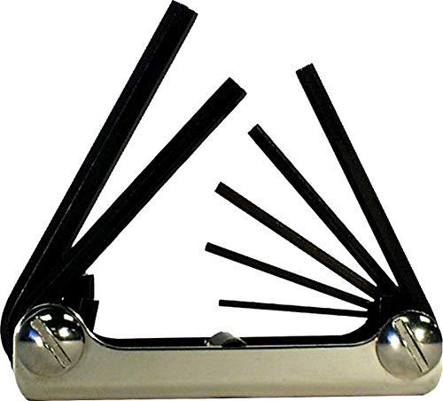 EKLIND 21172 Classic Steel Handle Fold-up Hex Key allen wrench - 7pc set Metric MM sizes 2-8