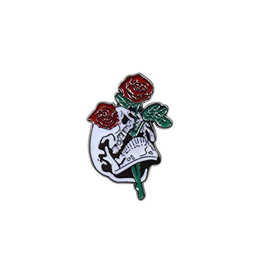 ERDING broche/broche in punk-stijl toveraar cranio vampier knop roze jeansjack broche badge geschenken gothic sieraden