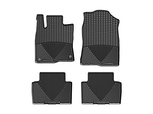 WeatherTech All-Weather Floor Mats for Civic/Civic Si/Civic Type R - 1st & 2nd Row - W390-W391 (Black)