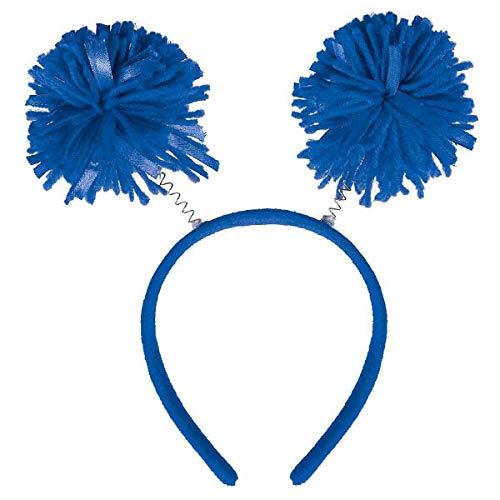 """Amscan Pom Pom Headbopper, Party Accessory, Blue , 9"""" x 4 1/2"""" - 395923.22"""