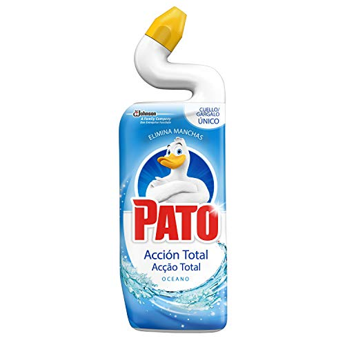 PATO® WC Fragancia Océano, Limpiador Quitamanchas para Inodoro, 750 ml