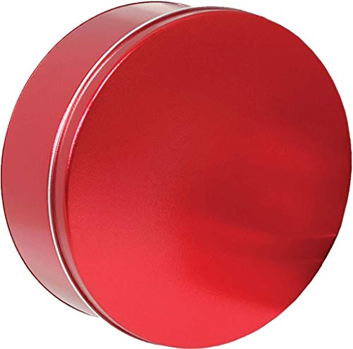 Scott's Cakes Medium Size Empty Solid Metallic Red Tin