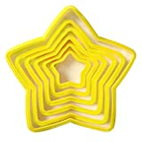 MMLUCK 3D Christmas Tree Cookie Cutter 6pcs/lot Five-Pointed Star DIY Biscuit Baking Fondant Cookie Cake Mold Sugarcraft Biscuit Decorating Tools