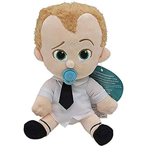 Entplg 20cm Jefe bebé Juguete de Peluche de Dibujos Animados muñeco de marioneta móvil Traje de líder Natural Juguetes para niños llenos de pañales y Regalos para Perros