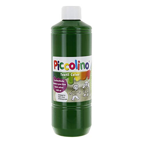 Textilfarbe grasgrün 500ml - Stoffmalfarbe PICCOLINO Textil Color