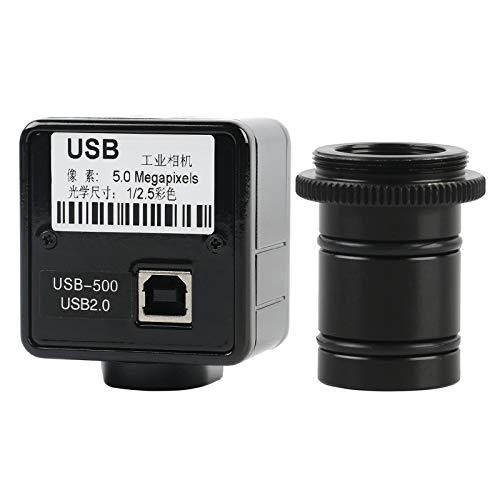 LIMEI-ZEN Microscope 5MP 2MP USB Microscope Camera Electronic Video Digital Eyepiece Camera 23.2mm Adapter for Trinocular Biological Microscope (Color : 5.0MP)
