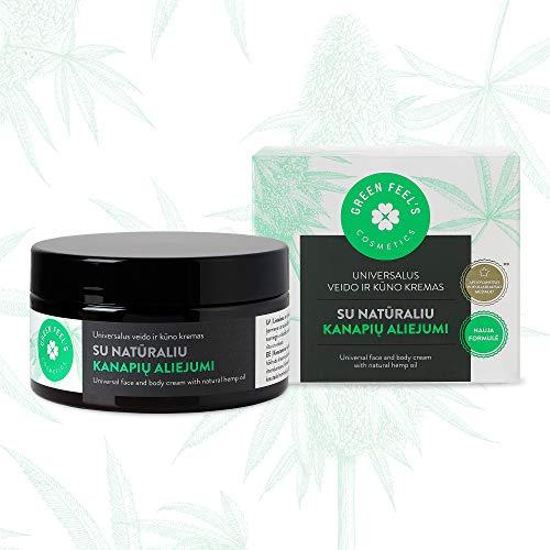 Crema corporal orgánica para pieles secas con aceite de semilla de cáñamo natural - Loción corporal con fórmula hidratante - Loción corporal cosmética natural - 200ml