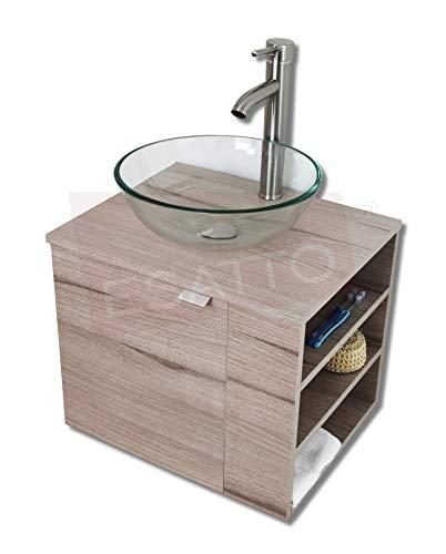 Esatto® Estupendo Mueble Baño Dtua Drop Lavabo Vidrio Llave Desagües