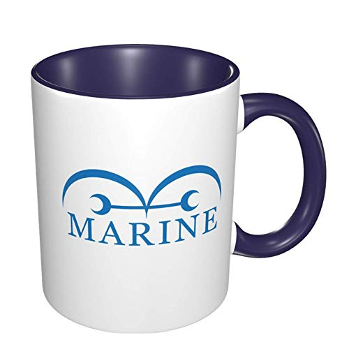 IUBBKI Ihhasd O-N-E Piece Marine Anime 3D Patrón Cerámica Tazas de café