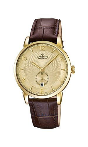 Candino Herren Analog Quarz Uhr mit Leder Armband C4592/4