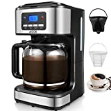 Coffee Machine, Aicok Filter Coffee Maker, 12 Cup Programmable Coffee Makers, 1.8 liters