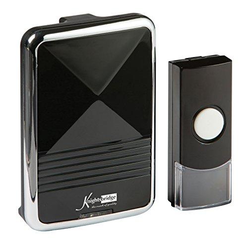 Knightsbridge draadloze deurbel, zwart - DCAV001