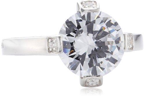 Merii Damen-Ring 925 Sterlingsilber rhodiniert Zirkonia weiß Gr. 50 (15.9) M0344R/90/03/50
