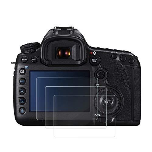 保護フィルム(3枚入り)強化ガラスフィルム スクリーン保護フィルム スチールフィルム 9H高硬度 耐衝撃 飛散防止 アンチ指紋スクラッチ キヤノン Canon EOS 5D Mark III MK 5DS 5DSR 5DIII 対応