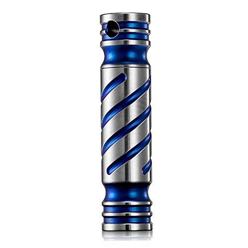 M-TOP Mini organizador de píldoras de titanio portátil, llavero de pastilla, impermeable, para viajes, diario, pequeña cámara para cinturón, bolso, cinturón de herramientas, azul - 2 paquetes
