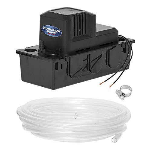 Superior Pump 97204 Condensate Pump, 1/30 HP, Black