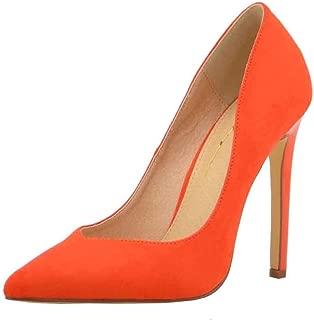 Olivia Jaymes Women's Dress Pump   Pointy Toe Curved V Cut   Slender Stiletto Thin Heel Slip-on Pumps