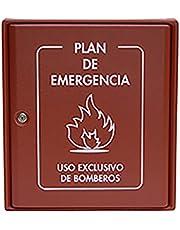 S21 Señalización AC-090 Armario para plan de emergencias, Multicolor