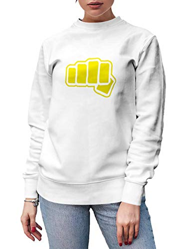 Women's Cobra Kai Funny Crewneck Sweatshirt Long Sleeve Design Pullover White XXX-Large