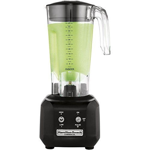 Hamilton Beach Commercial HBB250R Rio Bar Blender, 3/4 Peak hp, 2 Speed with Pulse Motor, 44 oz. Polycarbonate Wave Action Container, Black