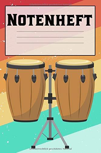 Notenheft: A5 (Handtaschenformat) Musiknotenheft für Musiker. Perfekt vorgedruckt um Lieder und Noten zu komponieren.