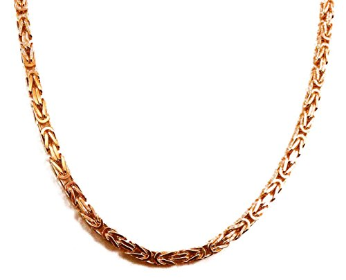 Königskette Rotgold Doublé 5 mm 85 cm Halskette Goldkette Herren-Kette Damen Geschenk Schmuck ab Fabrik Italien tendenze BZRYs5-85v