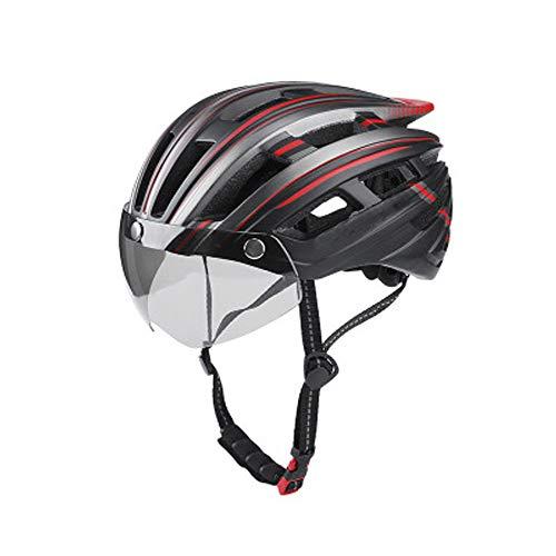 SGPPM Skateboard Helm Einstellbar, Sonnenblende zum Skateboarden Radfahren, Rollschuh Elektro Roller Erwachsene Herren & Damen, Farbe Rot & Schwarz, Größe Einheitsgröße(Passend für Kopfumfang 55-61cm)