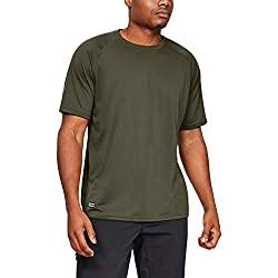 commercial Men's Under Armor Tactical Tech T-shirt, Navy Od Green (390) / Clear, X Large moisture wicking t shirt