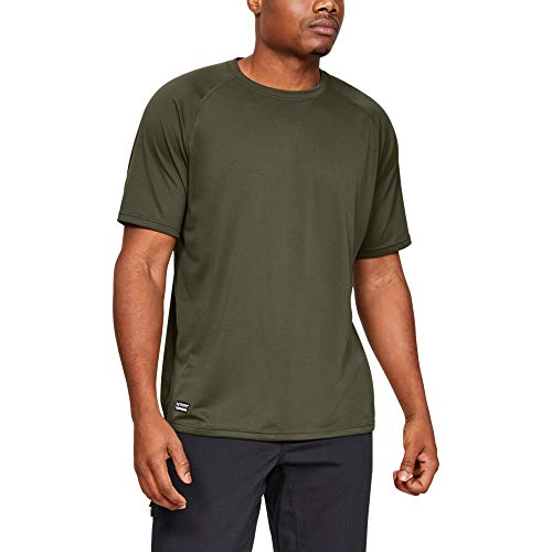Under Armour Men's Tactical Tech T-Shirt , Marine Od Green (390)/Clear , X-Large