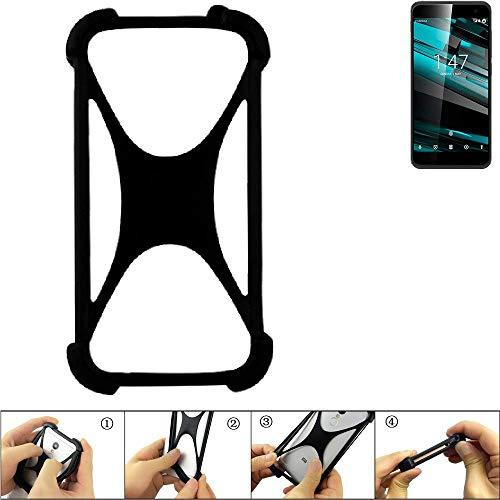 K-S-Trade Paraurti per Cellulare Vodafone Smart Platinum 7 Paraspruzzo in Silicone Custodia Cover...