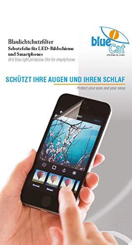 BlueCat Screen Displayschutzfolie | mit 100% Blaulichtfilter | Augenschutzfilter für LED Bildschirme iPhone 5/5S und SE