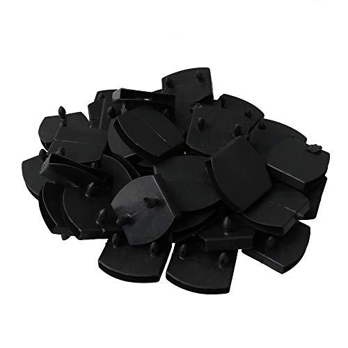 BQLZR - Soportes de plástico para somier de láminas de madera, 50 unidades