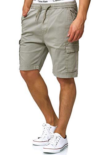 Indicode Herren Kinnaird Chino Cargo Shorts mit 6 Taschen aus 98{4d780e56c3219303187e5d209fb6c58e4738d3fe06bb5c5714387c657c0af4ae} Baumwolle | Kurze Stretch Hose Regular Fit Bermuda Herrenshorts Men Short Pants Chinohose Cargohose für Männer Lt Grey M