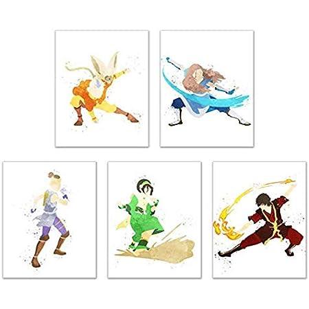 "American cartoon Avatar the last Airbender Map Poster 24x36/""//60x90cm Silk Print"
