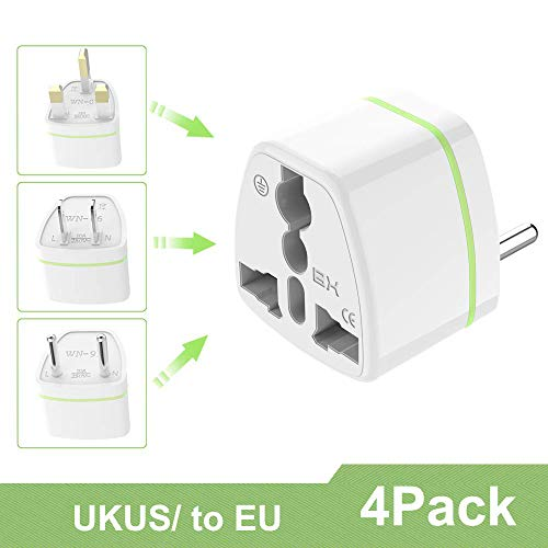 Luvfun [ 2 Unidades ] Universal Adaptador de Enchufe, Universal Adaptador Convertidor de Enchufe Viaje con Planos para EE.UU. /Japon/Cuba/Mexico/Tailandia/Canada/China etc- Blanco