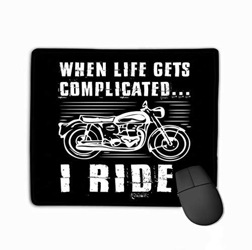 Mousepad Niet Slip Rubber PersoonlijkUnieke Muis Pad Motorfiets Citaat Zeggen Motorfiets Citaat Zeggen Beste Grafische Uw Goederen