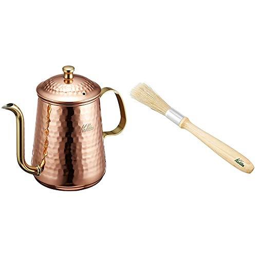 カリタ Kalita コーヒーポット 銅 600ml #52071 & コーヒーミルブラシ クリーニング お手入れ #44301【セット買い】