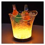 Vino de hielo 5L, Cubo de hielo de Bar, Fiestas Cubo de hielo, Vino, Botella de cerveza Refrigerador de bebidas congradado transparente / colorido, Papelera de enfriadora de bebidas de fiesta 210224