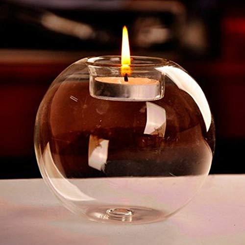 Coomir Kandelaar voor de bruiloft, van kristalglas, rond, voor de woonkamer