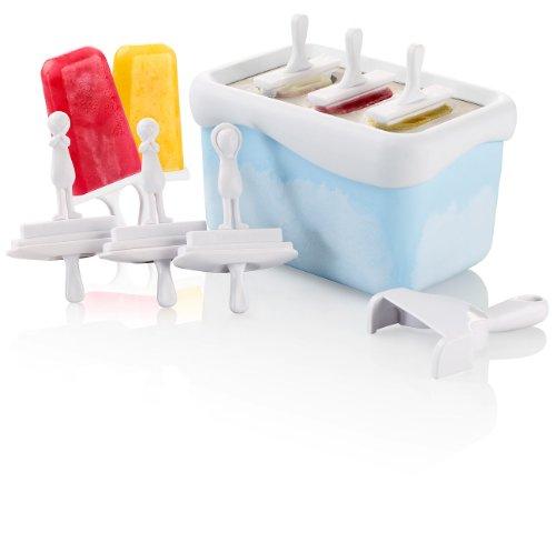 Rosenstein & Söhne Eisförmchen: EXPRESS Eis am Stiel Zubereiter (15 Minuten für 3 Schleck-Eis) (Eis am Stiel Maschine)