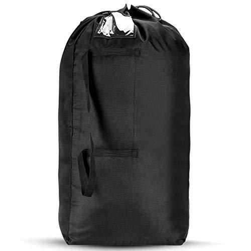 AGPTEK draagtas voor rugzakken, 2 in 1 rugzakbeschermhoes en regenbescherming, beschermende tas voor vliegtuig, trein, bus, flightbag, reistas, 60-95L, zwart