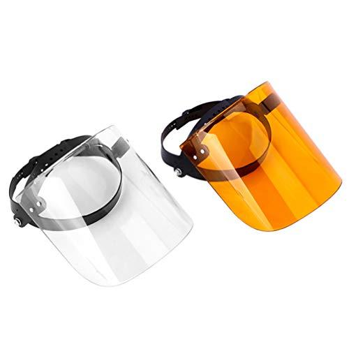 TENDYCOCO Protector Facial Protector Facial para Uso Exterior Al Aire Libre (Leonado + Transparente)