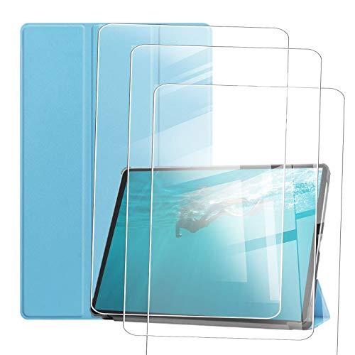 JIENI Funda para Lenovo Yoga Tab 11 (11.0) Pulgadas, Funda Protectora anticaídas, Funda estabilizadora magnética + 3 Pieza de Protector de Pantalla