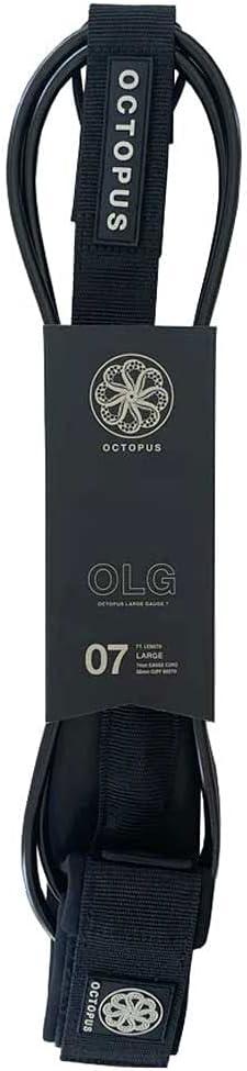 Octopus OLG Large 7' - Kansas City Mall Leash Surfboard Max 61% OFF Black