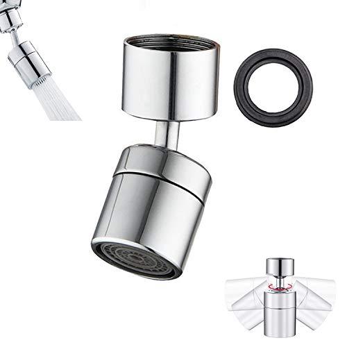 Wasserhahn-Luftsprudler doppelfuntionaler Wasserhahn 360-Grad-drehbarer Schwenkkopf, Universeller spritzwassergeschützter Extender-Mundwasser-Bubbler Wasserhähne 24mm Innengewinde