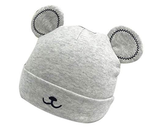 AK.SSI Plus Baumwolle gefütterte Kappen Baby Mütze Winter neugeborenes Baby warme Mütze Baby Mütze 1pcs (grau)