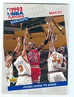 49ac76533ee Michael Jordan basketball card (Chicago Bulls) 1993 Upper Deck  193 54  Points Versus